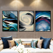 Abstract Watercolor Oil Painting Colorful Wall Art Posters And Prints Modern Home Decoration Canvas
