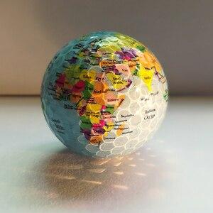 Image 3 - Nouveauté balles de Golf Globe carte couleur balles de Golf 2 pcs/lot pratique balles de Golf cadeau avec carte du monde balles de Golf géographiques uniques