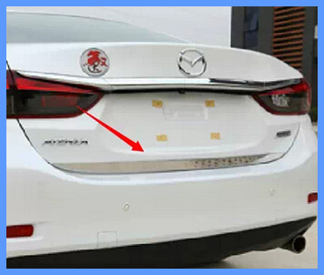 Free shipping! Higher star stainless steel 1pcs rear trunk decorative strip/trum strip For Mazda 6 Atenza 2014