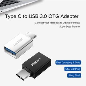 EECPT USB Type C OTG Adapter USB C to USB 3.0 OTG Type-C Converter for Macbook Samsung S10 S9 Huawei Mate 20 P20 USB-C Connector