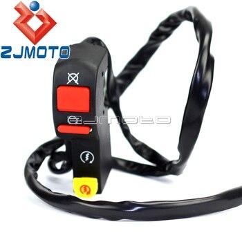 Interruptor eléctrico para manillar de Motocross, interruptor de arranque eléctrico de 7/8 pulgadas con conexión de 4 cables para Honda XR CRF 50 70 Dirt Pit Bike 70 90 125cc