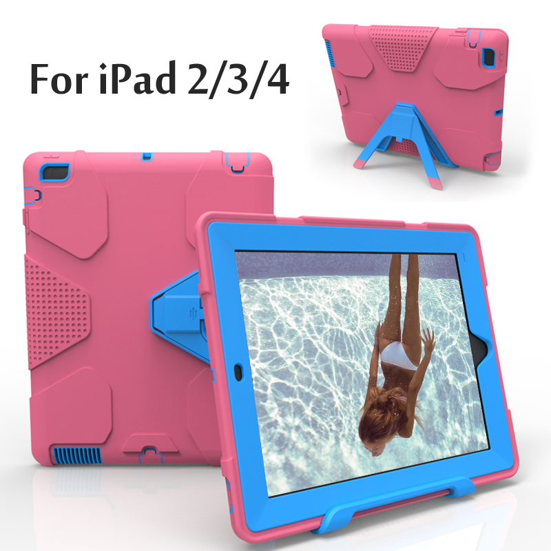 For iPad 2 / 3 / 4 Case EVA Heavy Duty Shockproof Hybrid Rubber Rugged Hard Protective Skin Cover Case For iPad2/3/4 szegychx tablet case for ipad air 2 eva heavy duty shockproof hybrid rubber rugged hard protective skin safe shell cover case