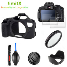 Full Protect Kit Screen Protector Camera case bag UV Filter Lens hood Cap pen Blower for Canon EOS 4000D T100 with 18 55mm lens