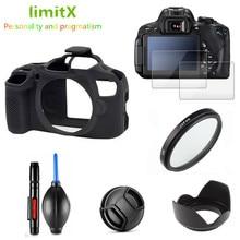 フル保護キットスクリーンプロテクターカメラケースバッグ UV フィルターレンズフードキャップペンキヤノン EOS 4000D T100 と 18 55 ミリメートルレンズ