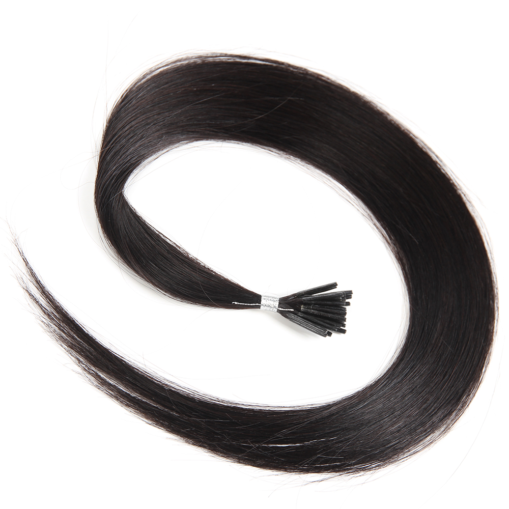 KEMY HAIR FASHION Brazilian Silky Straight I Tip Human Hair Extensions 0.5g/strand 20 Remy Pre Bonded Human Hair For Salon