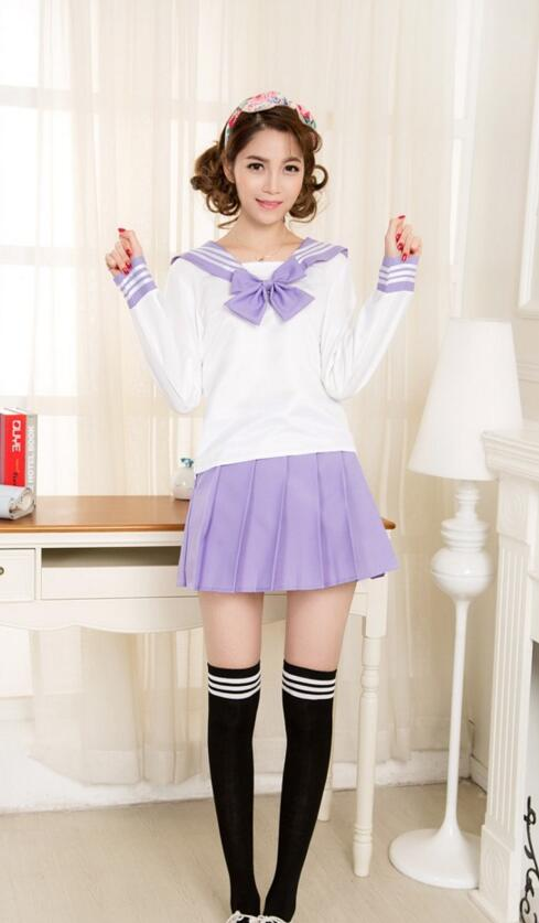 10 Set Fedex Dhl Japan Naval College Style Sailor Uniforms Japanese Korea Girls Student Uniform Female School Uniform Sets