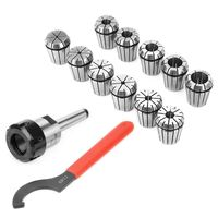 Precision ER32 Collet Chuck Set + MT2 Shank Handle Holder+ Spanner for Milling Machine