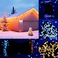 22 M RGB LED Cadena de Luz de Energía Solar 200 Led De Inducción Sensor de Luz de hadas Impermeable Luz LED para el Partido De Navidad Festival boda