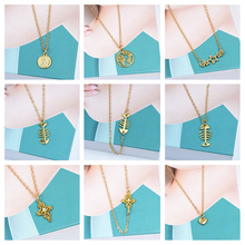 ZCHLGR Bohemian One layer Pendant Necklaces For Women Fashion Golden Geometric Charm Chains Necklace Jewelry Wholesale