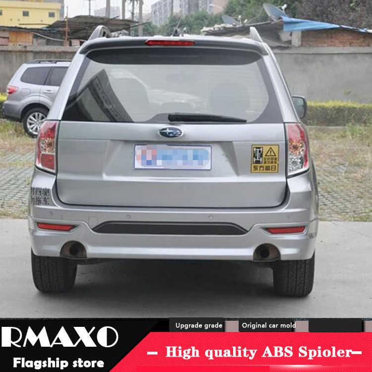 עבור סובארו פורסטר ספוילר 2009-2012 עם אור באיכות גבוהה ABS חומר רכב אחורי אגף פריימר צבע האחורי ספוילר