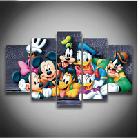 5Pcs 3D Full Square Diy Diamond Painting Cross Stitch Pattern Diamond Embroidery Cartoon Mouse Duck Room Decor gift