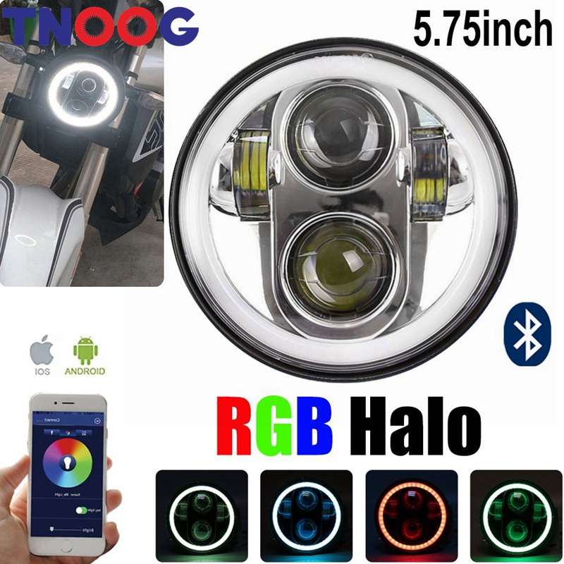 TNOOG 5.75 Daymaker LED Halo Headlight with White DRL RGB Halo Phone Bluetooth Remote for Harley Davidson Sportster 883 Dyna mtsooning timing cover and 1 derby cover for harley davidson xlh 883 sportster 1986 2004 xl 883 sportster custom 1998 2008 883l