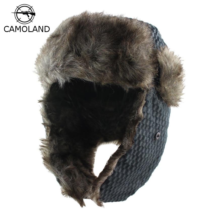 Detalle Comentarios Preguntas sobre 2018 hombres mujeres invierno sombrero  con orejas Earflap bombardero sombreros Ushanka casquillos rusos Trapper  sombrero ... a336f02251a