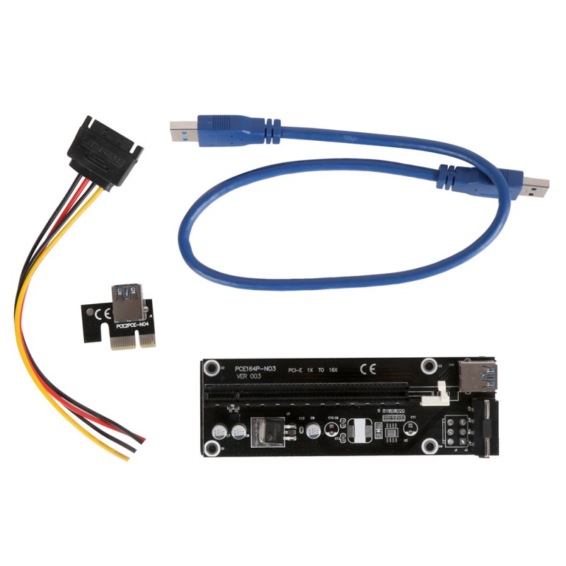 1 PC USB 3.0 PCI-E Express 1x to 16x Extender Riser Card Adapter SATA Power Cable 30/50CM For Any Graphics Cards