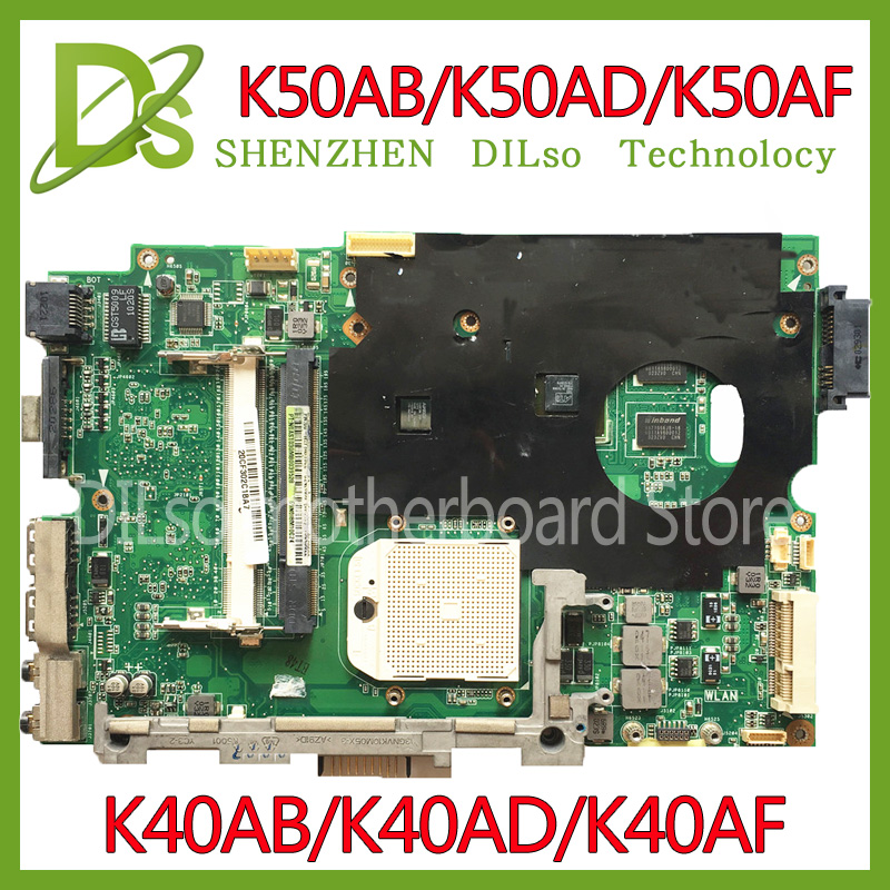 KEFU K40AB motherboard for asus laptop motherboard K40AB K40AD K40AF K50AB K50AD K50AF motherboard 100% tested motherboard new for asus 14 0 k40ad laptop motherboard 100