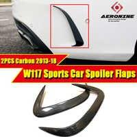 Adatto Per MercedesMB W117 Splitter Labbra Paraurti Posteriore Canards Carbon CLA Classe CLA180 CLA200 A250 CLA45 look Cornici e articoli da esposizione di Sport 2013 -18