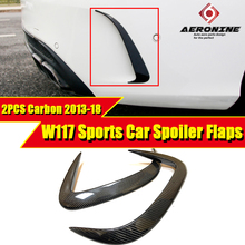 Fits For MercedesMB W117 Splitter Lips Rear Bumper Canards Carbon CLA Class CLA180 CLA200 A250 CLA45 look Package Sports 2013-18
