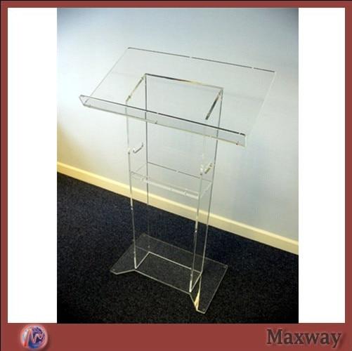 Clean Acrylic Teaching Platform Acrylic Church Lectern Perspex Church Podium Plexiglass