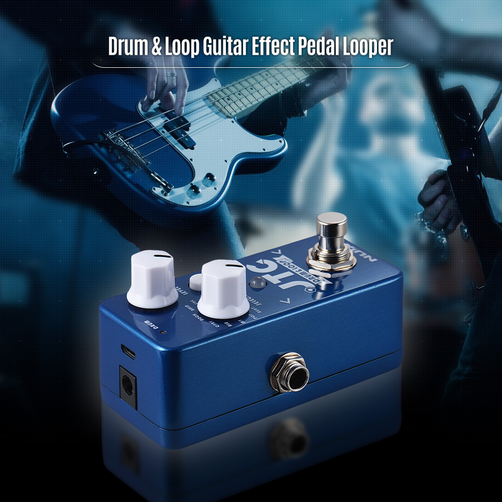 Nice Nux Ndl-2 Jtc Loop Guitar Effect Pedal Looper 6 Minutes Recording Time 10 Drum Rhythms Multi Function Footswitch Smart Tap Tempo Stringed Instruments