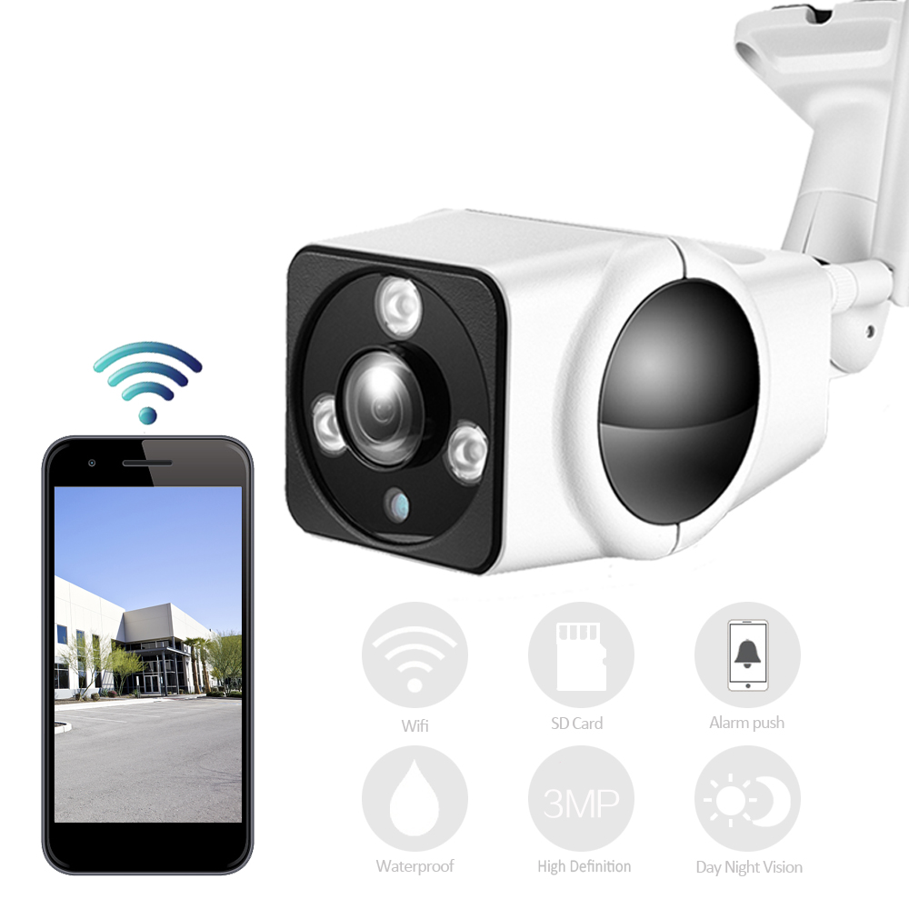 YSA HD Wireless Bullet IP Security Camera 1080P for Indoor or Outdoor With Audio Wi-fi Support TF Card,Aluminum Alloy Housing wistino cctv camera metal housing outdoor use waterproof bullet casing for ip camera hot sale white color cover case