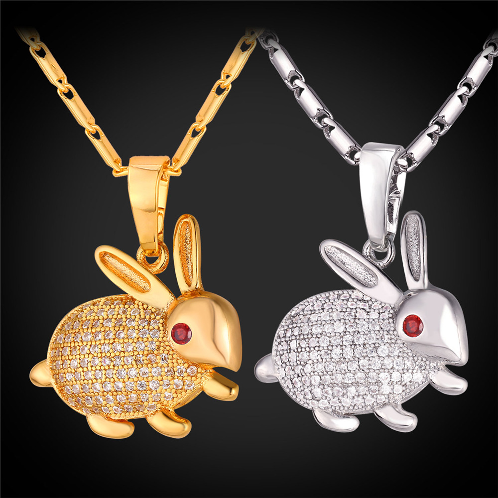 Lovely rabbit pendant necklace for women goldsilver color box link lovely rabbit pendant necklace for women goldsilver color box link chain little hare pendant animal jewelry p362 in pendant necklaces from jewelry aloadofball Gallery