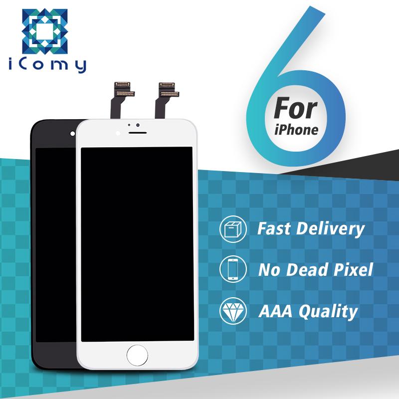 Prix pour 100% garantie de qualité aaa écran tactile en verre digitizer assemblée et lcd de remplacement pour iphone 6 gros prix