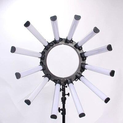 TL-1800S iluminación fotográfica regulable 3200-5600 K 12 tubos 672 Leds Cámara estudio fotográfico teléfono fotografía luz