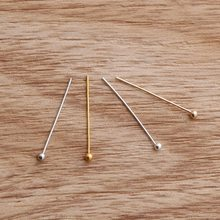500Pcs/lot 20x0.5mm Silver Gold KC Gold Rhodium Copper Ball Head Pins Needles For Beads Earring Jewelry Findings Ornament(China)