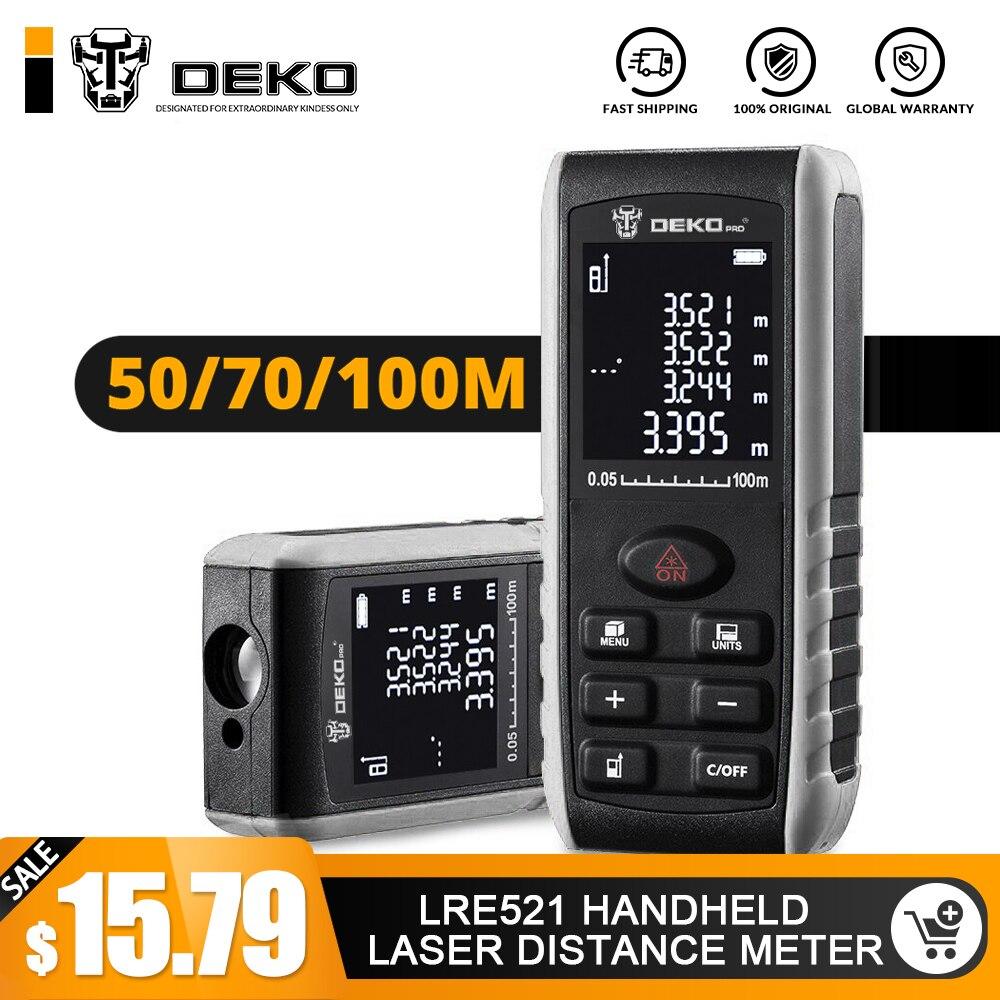 DEKO LRE521 Handheld Laser-distanzmessgerät Mini Laser-entfernungsmesser Laser Band Palette Finder Diastimeter Messen 40 M 60 M 80 M 100 M