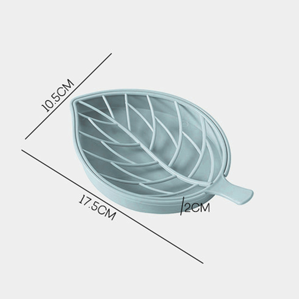 Creative Double Layer Drain Soap Holder Dish Box Anti-skid Leaves Shaped Bathroom Accessories Store