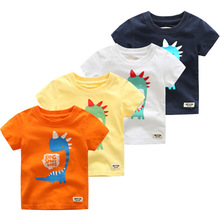 Summer Baby Boys T Shirt Short Sleeve Tee Cartoon Dinosaur T-Shirts 2-6year