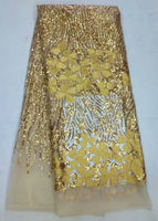 High Quality African Fabric For Wedding Decoration Red White Black Yellow Blue Purple Gold Sequin Lace