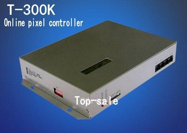 Contrôleur rvb programmable en ligne de carte SD de T-300K a mené le contrôleur DMX de pixel, commandé par ordinateur; soutiennent beaucoup de genres d'ic 8192