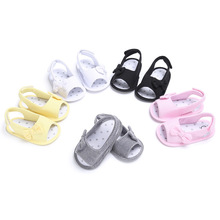 Summer Baby Boys Girls First Wlakers Soft Soled Bow-knot Shoes Flip Flop Newborn Kids Princess Casual Beach First Walkers 0-18M