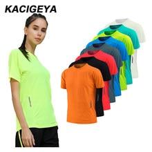 Kobiety szybkoschnące koszulki z krótkim rękawem Slim Sport T Shirt koszulki gimnastyczne koszulka treningowa trener koszulki do biegania oddychające ćwiczenia joga
