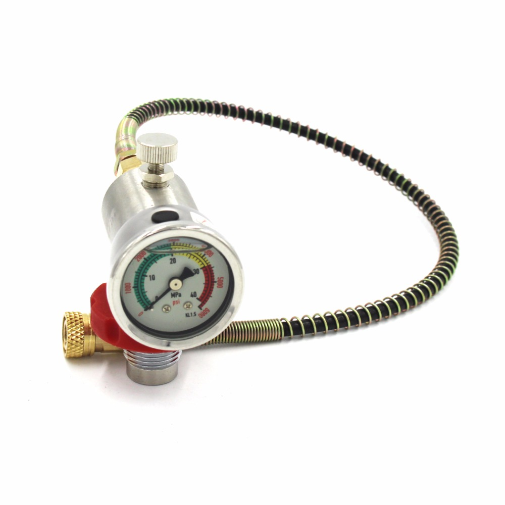 PCP Scuba Diving Valve CO2 Filling Station Valve w/ 40mm Gauge for CF Cylinder Air Inflation to Small HPA Tank Refill Adapter red safety 30mpa valve for composite compressed air cylinder for paintball airsoft gun hunting filling station