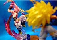 Аниме Фигуры 16 см Dragon Ball Z БУУ Зло БУУ ПВХ Фигурку Игрушки Модель Коллекционирование
