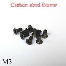 50 шт М3 mini micro маленький черный из углеродистой стали крестообразный