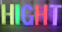 H82CM rechargeable colorful LED light words & Numbers waterproof Luminous letters sign IR control led floor lamp outdoor/indoor