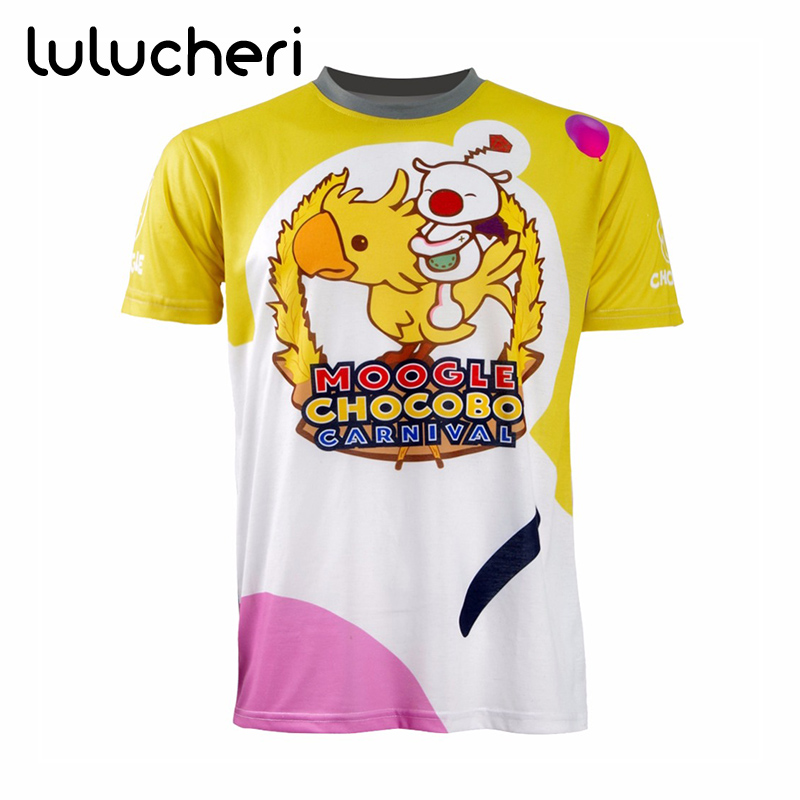 FF15 Final Fantasy XV Cosplay T-shirt Moogle Chocobo Costumes Noctis Lucis Caelum Carnival Shirts Men Short Sleeve Tops Tees