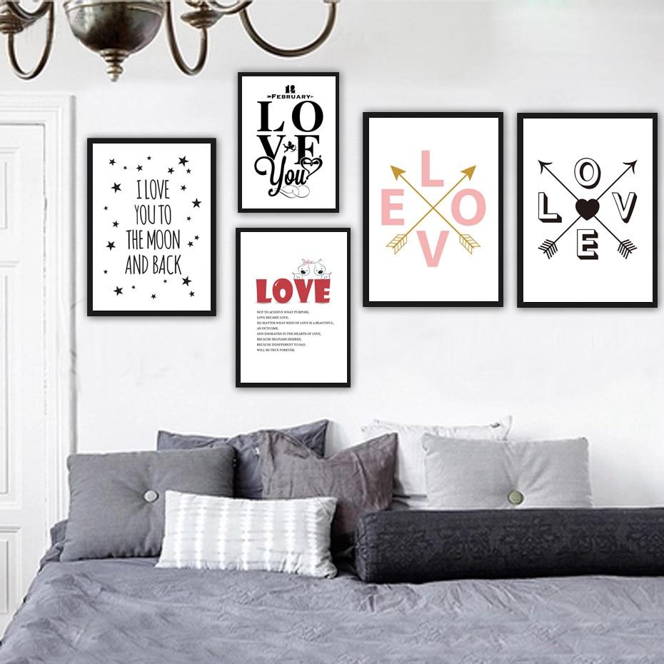 Diy Wall Decor Art: Love Oil Painting On Canvas DIY Home Decor Romantic