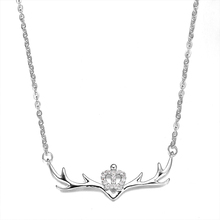 Exquisite Antler Pendant Necklace Adult Christmas Gift Ornaments Quality Simple Decorative Jewelry