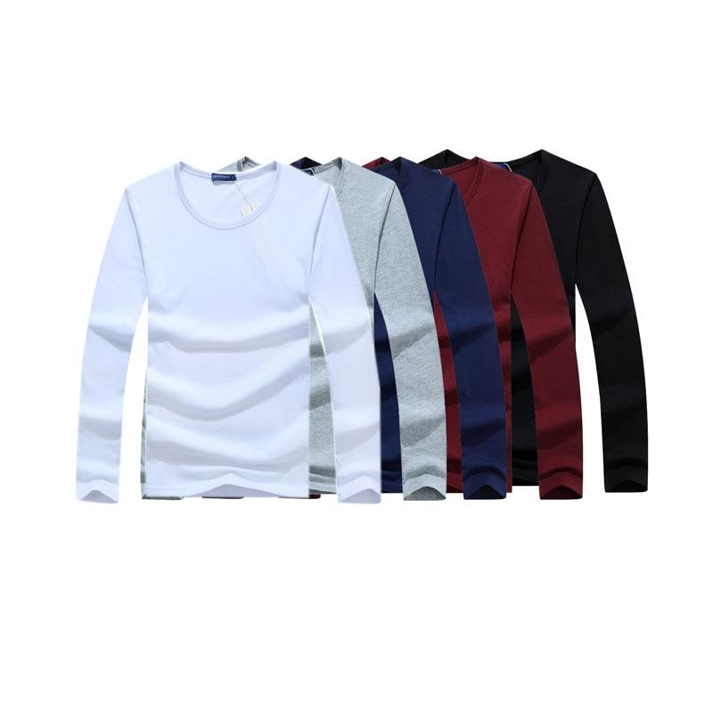 5 pçs/lote Roupas de Marca de manga Longa T Shirt Dos Homens Da Forma dos homens Para O Sexo Masculino T-shirt Outono E Inverno M-6XL Frete Grátis