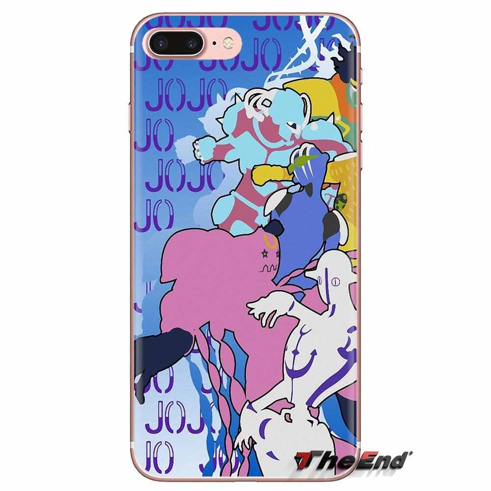 Kỳ Dị Phiêu Lưu JoJo Anime Cho Ipod Cảm Ứng iPhone 4 4S 5 5S SE 5C 6 6S 7 8 X XR XS Plus MAX Mềm Mại Trong Suốt Có