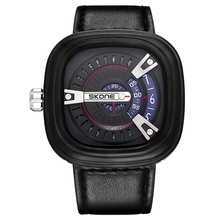 SKONE Watches For World Cup Luxury Men Watches Designer Big Face Square Dial Shock Resistant PU