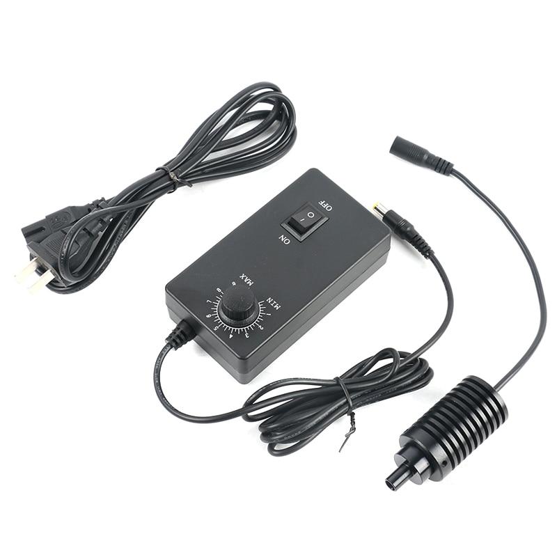 8mm 3W Coaxial Point LED Spot Light Lamp Adjustable Brightness Illuminator 100V 240V Adapter for Camera