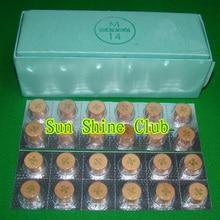 10 шт./лот 14 мм S/M/Q свиная кожа наконечники для бильярдного кия/Moori наконечники для кия/бильярдные наконечники для кия