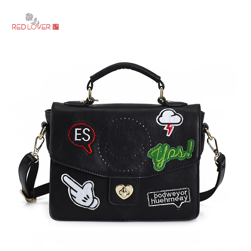 ФОТО Fashion lady business bag Women's handbag PU leather messenger bag Red Lover brand new crossbody bags