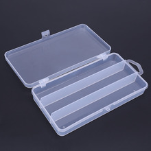 3 Compartments Single Layer Fly Fishing Lure Tackle Box PP Transparent Plastic Hook Storage Case Multifunction Fishing Tools