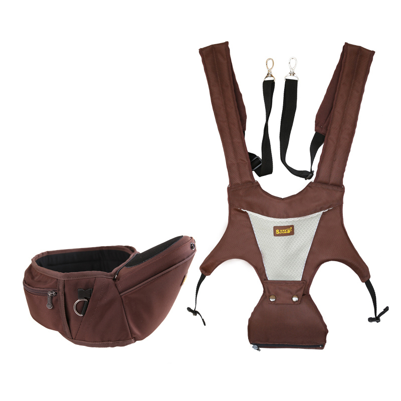 2 In 1 Updated Baby Carrier Hipseat Toddler Baby Hipseat Kangaroo Suspenders Sling Wrap Carriers